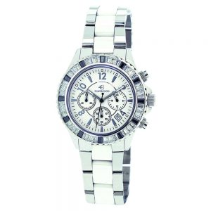 Elmer Ingo Semi Ceramics Chronograph XS BW White (Ladies)