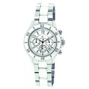 Elmer Ingo Semi Ceramics Chronograph XS BW All White (Ladies)