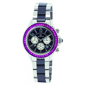 Elmer Ingo Semi Ceramics Chronograph Black Pink (Ladies)